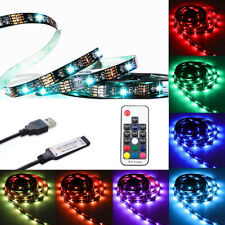 WOW - USB RGB LED Strip Lights TV Backlight  IP20 Non-waterproof 5V + RF Remote