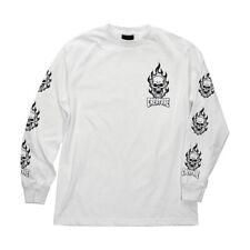 Creature Bonehead Long Sleeve Skateboard Shirt White Xl