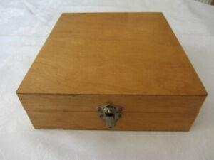 VINTAGE WOODEN  SLIDE STORAGE BOX - 105 size CASE 35mm