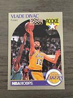 1990-91 Hoops 100 Superstars Vlade Divac Rookie Card #46 Los Angeles Lakers RARE