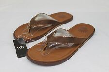 UGG Bennison II Leather Men's Flip Flops Sandals Thongs Luggage Brown Size 7 US