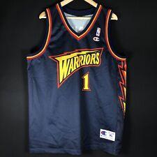 Champion Muggsy Bogues NBA Trikot Warriors Basketball Jersey Jordan XL Authentic