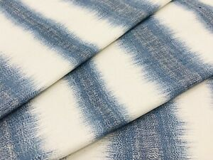 Kravet Woven Blue Ikat Ombre Stripe Fabric- Windswell / Pacific 11.5 yd 34979.15