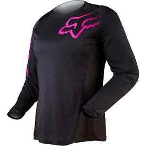 Fox Racing Womens Blackout Jersey MX ATV Riding Off Road Black Pink 12337-285