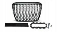 RS6 Look Style Front Grill Black Mesh Honeycomb Grille Audi A6 4F C6 S6 S line