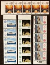 Nevis #571-4 Strips of 5 1988 MNH