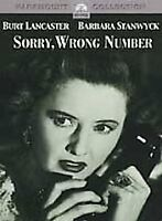 SORRY WRONG NUMBER rare Horror Classic dvd BURT LANCASTER Barbara Stanwyck 1948
