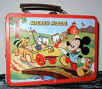 '54 walt disney MICKEY MOUSE donald duck LUNCH BOX rare