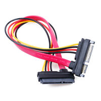 30cm 22pin 7+15pin Male To Female SATA Data HDD Power Extension Cable Connector