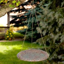 Oak Leaf Hanging Birdbath - Copper Verdigris
