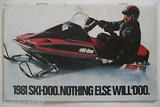 VINTAGE 1981 FULL LINE SKI-DOO 'BLIZZARD SERIES 'SNOWMOBILE DEALERSHIP BROCHURE