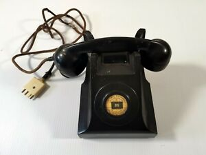 VINTAGE TELEPHONE EXCHANGE PMG AWA 58 S1/402 BAKELITE WITH CLOTH CORD