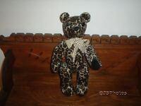 OOAK Canada Artist Handmade Bear Velvet Leopard Print