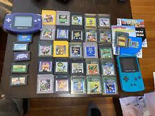 NINTENDO GAMEBOY Advance & Color Lot Consoles & 32 Games