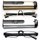 Damen Herren Metall Lesebrille Brille Lesehilfe mit Brillenetui Box +1.0 ~ +3.5