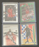 James Harden 4 Card Lot Bundle Donruss Optic Panini Prizm Mosaic Rockets New