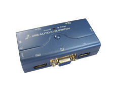 2 Port USB KVM with Audio Function & Cables Hotkey Keyboard Video Mouse Switch