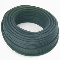 Textilkabel, Leitung Faser umflochten, rund, Abaca Feldgrau, 3x0,75 H03VV