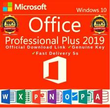 Microsof Office 2019 Professional Plus For Window 32/64 Bit -Genuine Key 🔑