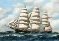 ZOPT479 charm ocean seascape sail boat hand painted oil painting art canvas