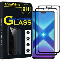 """2 Vitre Film Verre Trempe Protecteur d'écran NOIR Huawei Honor View 10 Lite 6.5"""""""