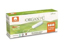 ORGANYC ORGANIC COTTON TAMPONS SUPER PLUS 16 tampons x2 - 100% cotton