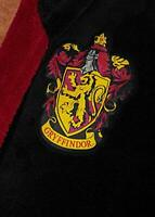 Groovy Gryffindor Harry Potter Hooded Bathrobe, Polyester, Black, Mens One Size