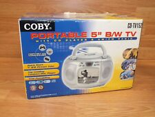 Genuine Coby (CD-TV152) Gray Portable Analog TV, CD Player, Radio In Box **READ*