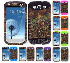KoolKase Hybrid Silicone Cover Case for Samsung Galaxy S3 i9300 - Camo Mossy 02
