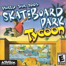SKATEBOARD PARK TYCOON - WINDOWS 2000/XP ME PC CD-ROM GAME NEW