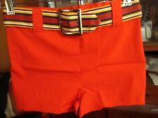XS 28W True Vtg 60s CLASSIC ORANGE SPRINGFOOT BELTED SWIM BANANA TRUNKS Shorts