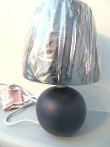 Simple Designs Mini Ceramic Globe Table Lamp 2 Pack Set, Blue