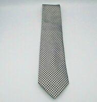 "Sean John Men's Neck Tie Gray w/Black Geometric Pattern Silk 58"" x 3.5"""