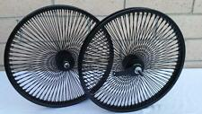 "20"" Lowrider Bicycle Dayton BLACK Wheels 140 Spokes Front & Rear Set 20x2.125"