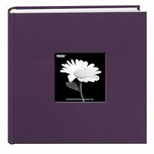 Pioneer Fabric Photo Album 200 Pockets Hold 4x6 Photos, Wildberry Purple