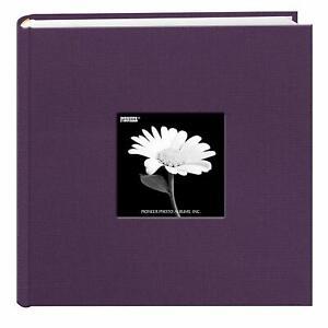 Pioneer Fabric Photo Album 200 Pockets Hold 4x6 Photos, Wildberry Purple