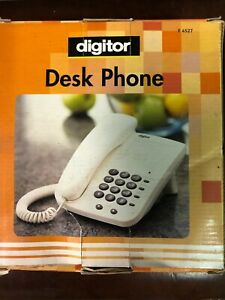 New Digitor Desk corded telephone - hearing aid compatible - wall mount -memory