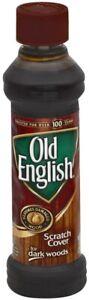 OLD ENGLISH 8OZ LIQUID FURNITURE POLISH DARK WOODS SCRATCH COVER 9385758