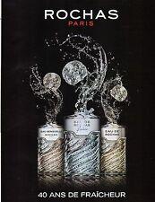 Publicité Advertising 2011  Parfum EAU DE ROCHAS fraiche et sensuelle