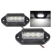 2pcs 6 led plaque d'immatriculation LED allume des lampes pour remorque camion