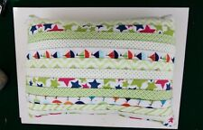 New listing Handcrafted Soft Flannel Pillow - Boats And Stars #5679