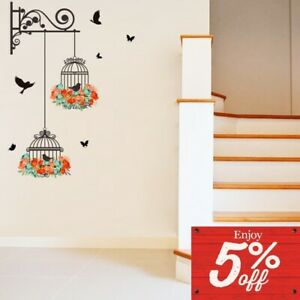 Colorful Flying Birds Wall Stickers Children Nursery Kids Room Decals Home Decor