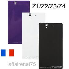 Vitre Arrière Sony Xperia Z1/Z2/Z3/Z4/Z5 Couleur Au Choix + Adhésif Pré Collé