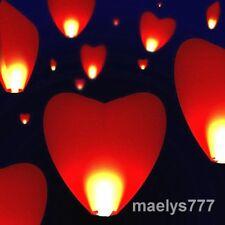Lanterne volante  coeurs géant rouge ballon décoration mariage 95 cm  lot 10pcs