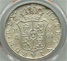 8 Reales 1814 MGJ Fernando VII 2nd portrait Spain AU PCGS Very Rare !!!KM# 466.3