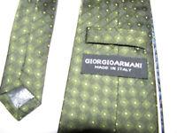Giorgio Armani HAND MADE in Italy 100% Silk GREEN MENS Necktie Tie