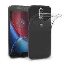 Pour Motorola G4 plus Coque Gel En Silicone Tpu Lisse Transparent invisible