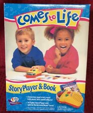 COMES TO LIFE STORY PLAYER AND BOOK VINTAGE 1993 TOY NIB MICROPHONOGRAPH