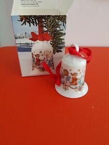 HUTSCHENREUTER Porzellan Weihnachtsglocke 1983 Marschland Sammelglocke