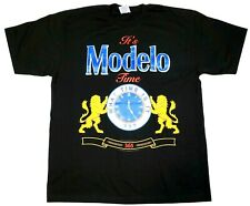 MODELO TIME T-shirt Mexico Cerveza Mexican Beer Men's Tee 100% Cotton New